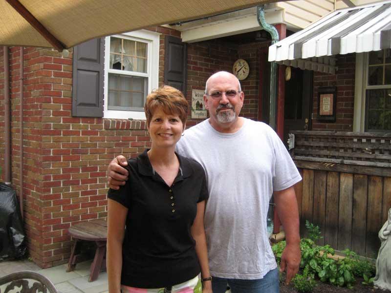 Jo Piergallini e la moglie Donna